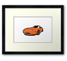 Convertible orange japan car Framed Print