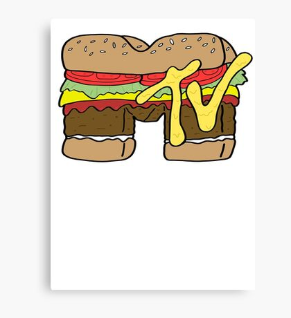 MTV Burger Logo Canvas Print