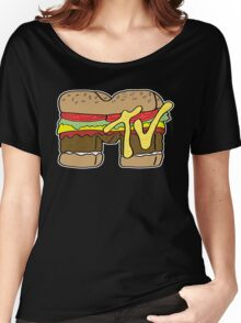 MTV Burger Logo Women's Relaxed Fit T-Shirt