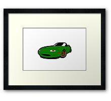 Convertible green japan car Framed Print