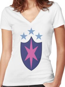 My little Pony - Shining Armor Cutie Mark Women's Fitted V-Neck T-Shirt