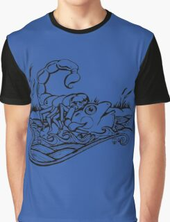 Scorpion and the Frog (black) Graphic T-Shirt