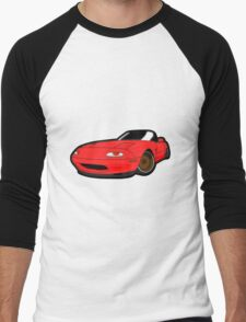 Convertible red japan car Men's Baseball ¾ T-Shirt