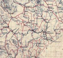 Civil War Maps 1499 Rappahannock Co Virginia Sticker