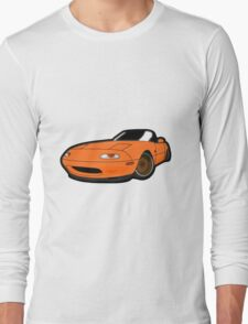 Convertible orange japan car Long Sleeve T-Shirt
