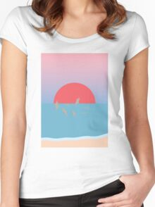 Frolicking at Sunset Women's Fitted Scoop T-Shirt