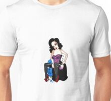 pin up and roses Unisex T-Shirt