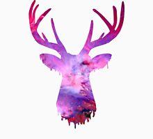 Space and deer modern rose Unisex T-Shirt