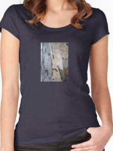 Bark Of A Eucalyptus Tree Women's Fitted Scoop T-Shirt