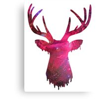 Space and deer modern poster Canvas Print