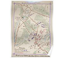Civil War Maps 1387 Plan of the battle of Mill Spring or Logan's Cross Roads fought January 19th 1862 Poster