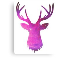 Space and deer modern rose Canvas Print