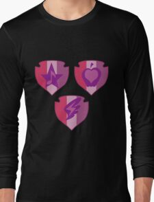 My little Pony - Crusaders Cutie Mark Black Long Sleeve T-Shirt