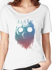 Fixed gear, bike, cycling, skull emblem Women's Relaxed Fit T-Shirt
