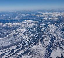 Mountains as Far as the Eye Can See - Flying Over the Rockies by Georgia Mizuleva