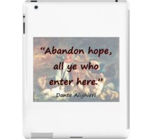 Abandon Hope - Dante iPad Case/Skin