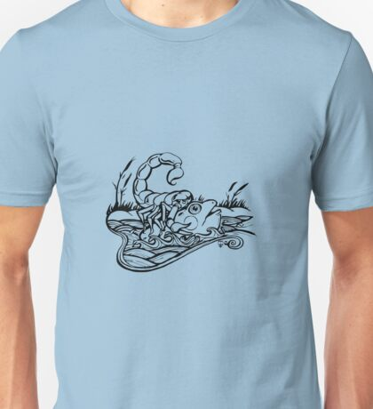 Scorpion and the Frog (black) Unisex T-Shirt