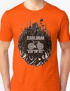 Fixed gear, bike, cycling, skull emblem, bicycle T-Shirt