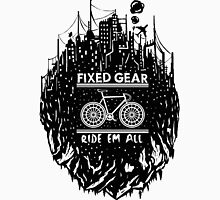 Fixed gear, bike, cycling, skull emblem, bicycle Unisex T-Shirt