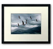 cloud mountains Framed Print