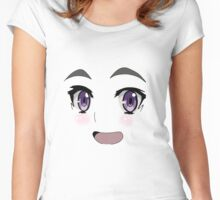 Anime Face Design Women's Fitted Scoop T-Shirt
