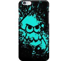 Splatoon Black Squid on Cyan Splatter Mask iPhone Case/Skin