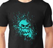 Splatoon Black Squid on Cyan Splatter Mask Unisex T-Shirt