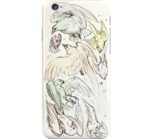 pastel birdies iPhone Case/Skin