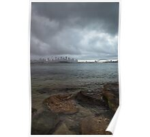 Stormy Harbour Poster