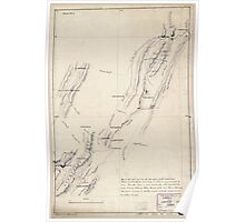 Civil War Maps 2277 Western Virginia from Petersburg to Warm Springs showing the movement of the Union army 1862 Poster