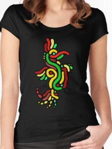 Cool Reggae Bird Women's Fitted Scoop T-Shirt