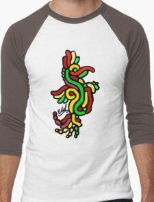 Cool Reggae Bird Men's Baseball ¾ T-Shirt
