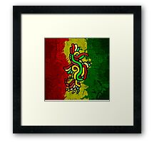 Cool Reggae Bird Framed Print