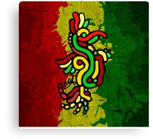 Cool Reggae Bird Canvas Print