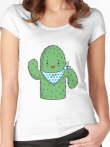 Mr J.G Cactus (sky) Women's Fitted Scoop T-Shirt