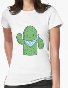 Mr J.G Cactus (sky) Womens Fitted T-Shirt