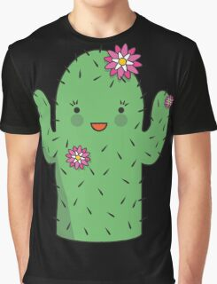 Mrs J.G Cactus (sky) Graphic T-Shirt