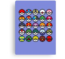 Pixel Pokeball Design [RE] Canvas Print