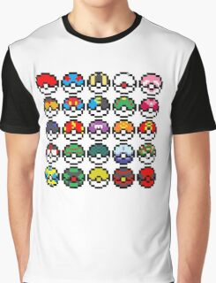 Pixel Pokeball Design [RE] Graphic T-Shirt