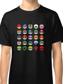 Pixel Pokeball Design [RE] Classic T-Shirt