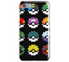Pixel Pokeball Design [RE] iPhone Case/Skin