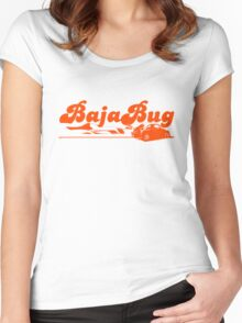 Baja Bug Orange Women's Fitted Scoop T-Shirt