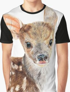 Cute Baby Deer/ Fawn Graphic T-Shirt