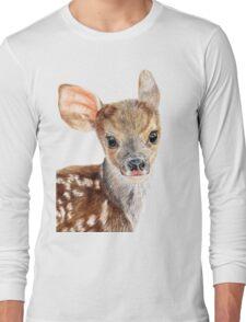 Cute Baby Deer/ Fawn Long Sleeve T-Shirt