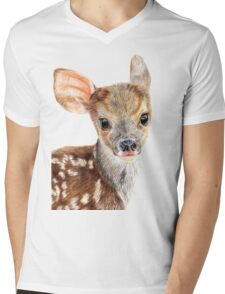 Cute Baby Deer/ Fawn Mens V-Neck T-Shirt