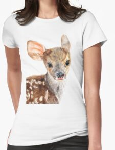 Cute Baby Deer/ Fawn Womens Fitted T-Shirt