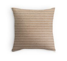 Corrugated Cardboard Throw Pillow