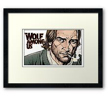 Bigby wolf, from the The wolf among us and Fables Framed Print