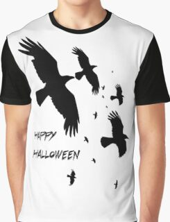 Happy Halloween Murder of Crows Graphic T-Shirt