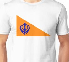 The Nishan Sahib, Sikh Flag. Unisex T-Shirt